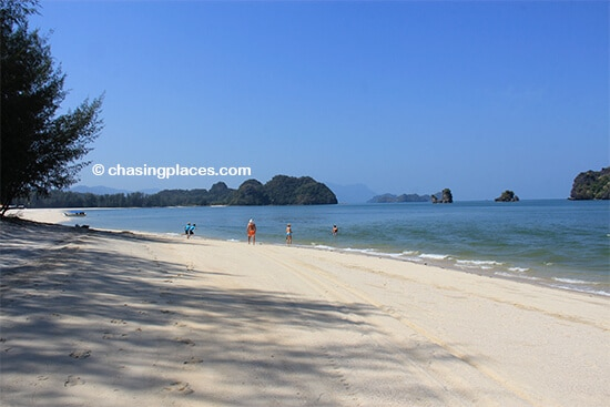 A scenic section of Tanjung Rhu Beach, Langkawi, Malaysia