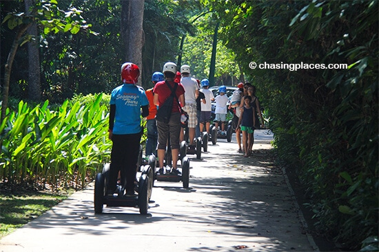 Consider a Segway ride while on Sentosa Island Singapore