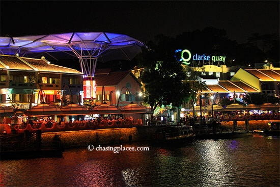 Enjoy a riverside dinner in Clarke Quay, Singapore