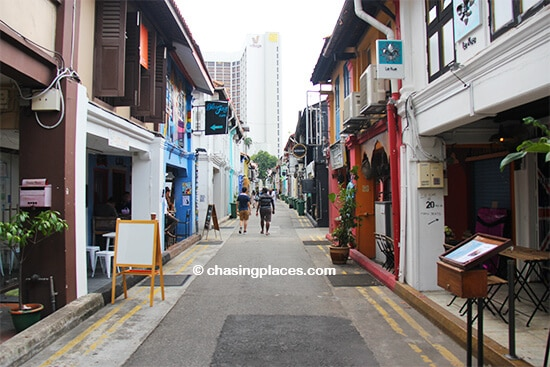 Haji Lane, parallel to Arab Street, Singapore