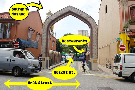 Muscat Street and the surrounding area, Singapore