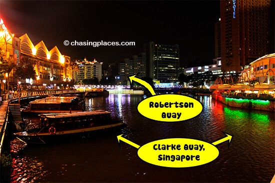 Robertson Quay is a short walk past Clarke Quay in Singapore