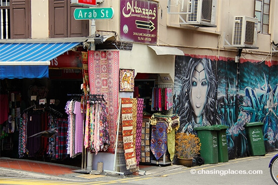 The art scene, Arab Street, Singapore