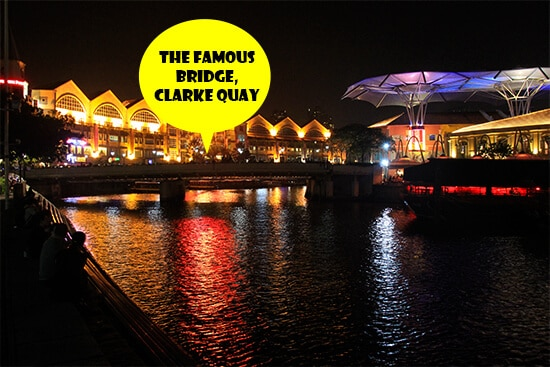 The famous bridge, Clarke Quay, Singapore