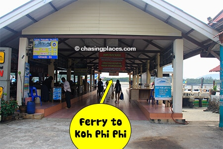 Proceed straight under the covered walkway to board the ferry to Koh Phi Phi