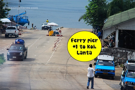 The first ferry pier to Koh Lanta