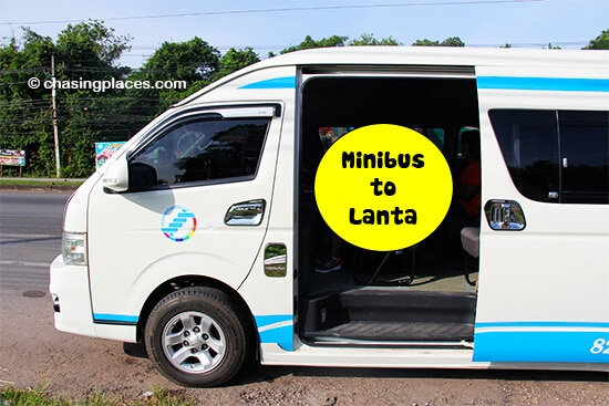 The minibus to Koh Lanta from Krabi Airport