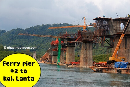 The second ferry to Koh Lanta-will soon be replaced by a bridge