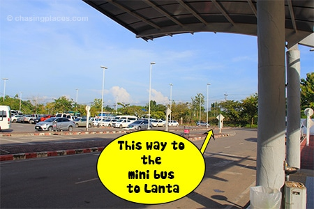 Turn left once you come out of Krabi Airport
