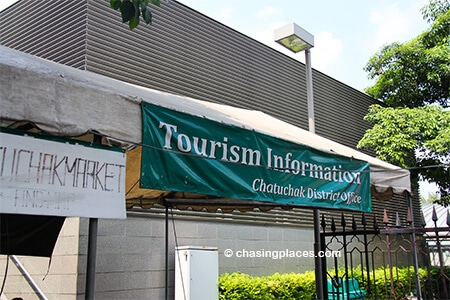 If you have any questions after to arrive at Mo Chit Station there is a handy outdoor station for tourists