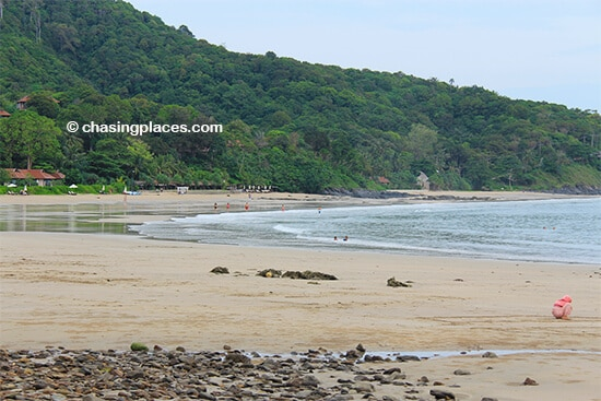 Koh Lanta's Kantiang Bay during low tide