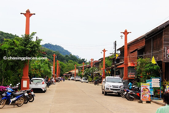 The quiet main street of Old Lanta Town