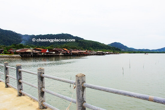 The view from the pier, looking back at Old Lanta Town