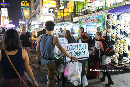 Get right to the heart of world famous Khaosan Rd. in Bangkok