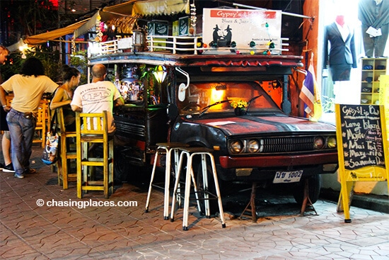 Soi Rambuttri has some of the coolest bars we have seen anywhere