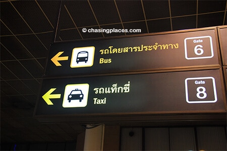 Thankfully the signage at Don Mueang is excellent