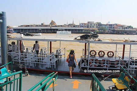 The ferry getting ready to head back towards Wat Pho