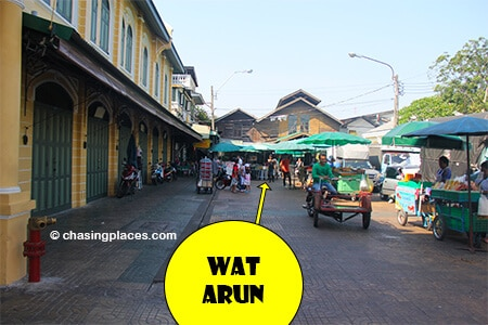 The pier area as you head from Wat Pho to Wat Arun