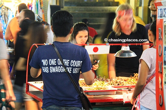 Tourists just love the various insects on display on Khao San. If you are too scared to eat some, consider taking a photo