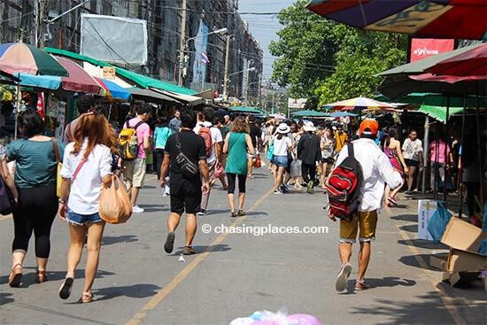Chatuchak at about 1 pm on Saturday