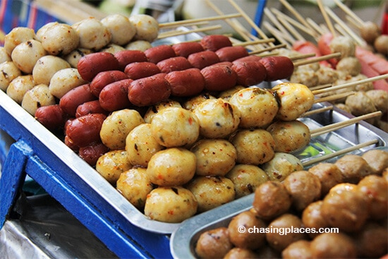 Chatuchak market has an overwhelming-amount of finger food to try