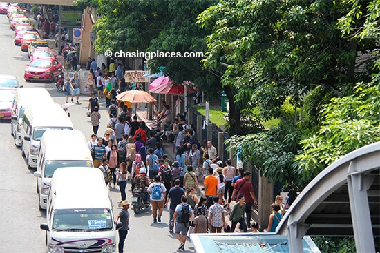 Expect some traffic when you head to Chatuchak on the weekend