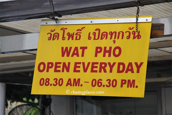 Wat Pho is open everyday, therefore ignore touts that tell you otherwise