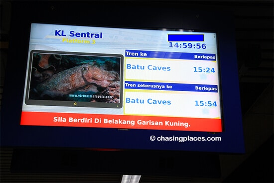 Batu Caves can be easily reached from KL Sentral via the KTM network