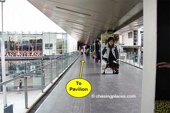 Consider taking the walkway from KLCC to Pavilion and then you are right in the Bukit Bintang area
