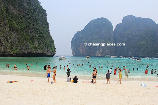Maya Bay at about 11 am