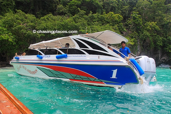 You can arrange a speedboat tour as well on Koh Phi Phi