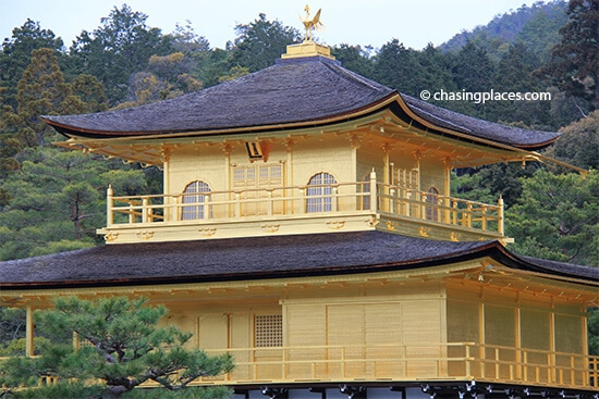 A closer look at the Golden Pavilion, Kyoto, Japan