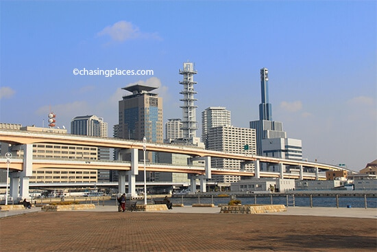A glimpse of Kobe from the waterfront area of the city