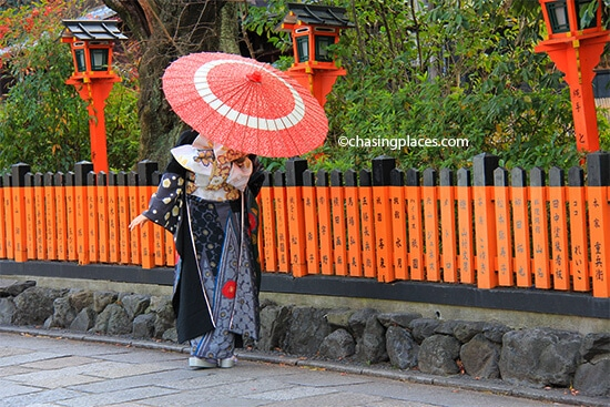 Spotting a geisha or someone dressing up as one is a highlight of the Gion area