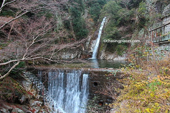 The first set of Nunobiki Falls, Kobe