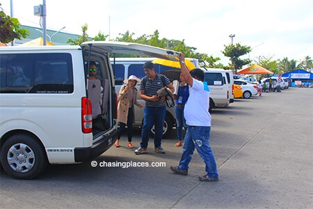 A-minibus-at-Kalibo-International-Airport-getting-loaded-for-the-1.5-hour-ride-to-Boracay