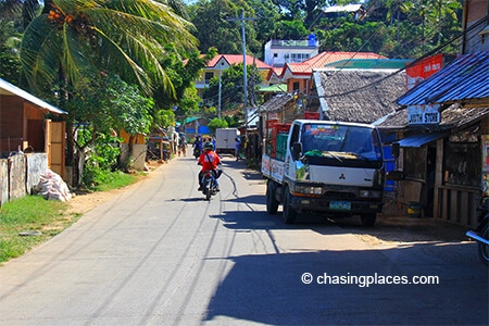 Consider a moto ride to and from Puka Beach on Boracay Island