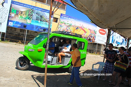 Visitors-loading-onto-the-electric-tricycles-right-near-Boracay's-Jetty