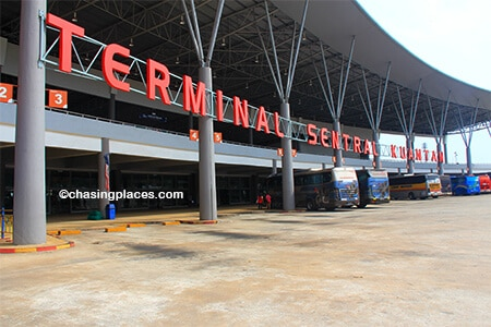 Terminal Sentral Kuantan is a modern bus station. Head downstairs to get the local bus to the city.