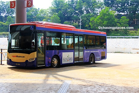 The local Rapid Kuantan Buses that head to the city centre depart from Platform 1 or Platform 2.