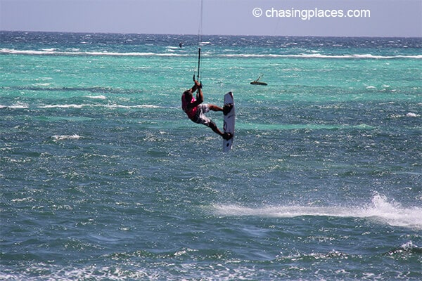 Airborne at Bulabog Beach, Boracay.