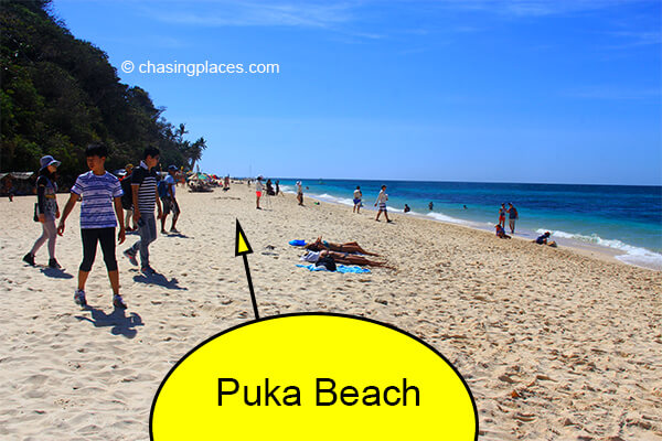 Although some plans are in the works, Puka Beach still had no resorts at the time of our last visit.