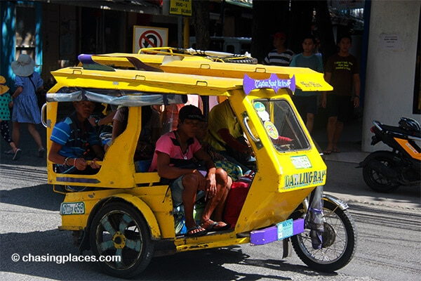 An example of a parked or special tricycle on Boracay Island.