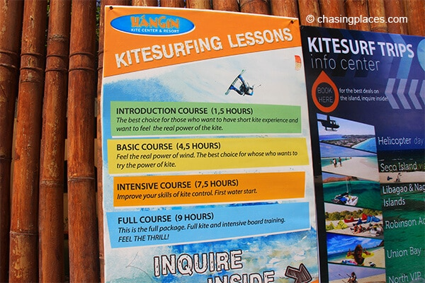 Bulabog Beach has no shortage of places offering lessons.