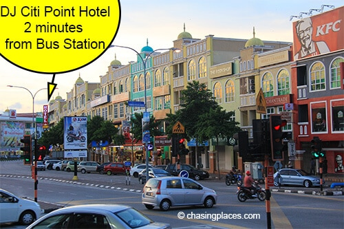 DJ Citi Point Hotel is literally 200 meters from the station. This photo was taken from the Station