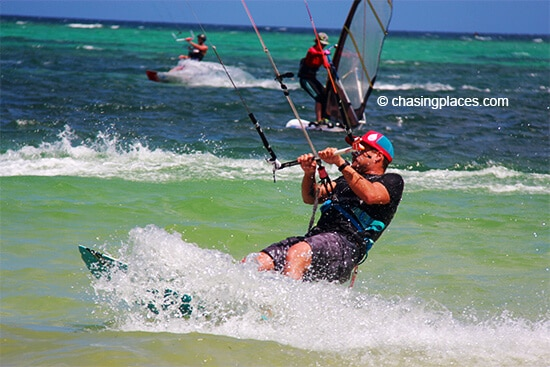 Head to Boracay's Bulabog Beach for top notch kite surfing.