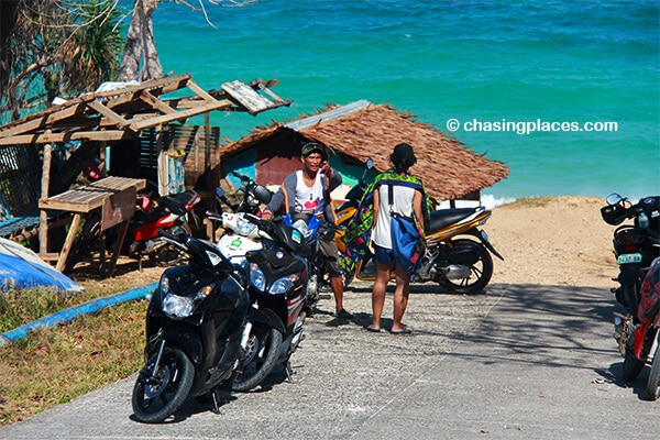 If you can't find a tricylce, try to hire a local moto driver to whisk you around Boracay.