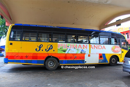 The S.P. Bumi Bus at Cukai's Bus Station, waiting to go to Dungun.
