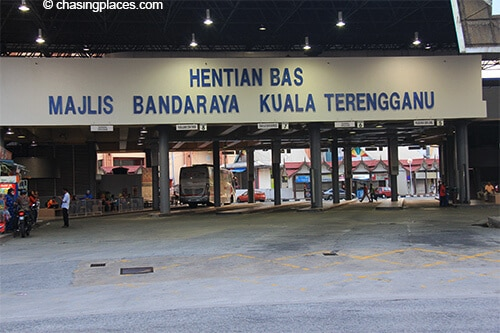 The bus will terminate at Kuala Terengganu's Bus Terminal in downtown KT