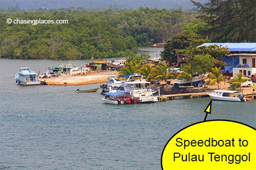 The speedboat to Pulau Tenggol is about 1.5 km away from Dungun's Bus Station